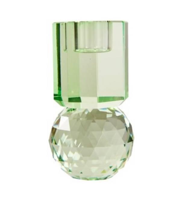Bilde av Mint krystal lysestake