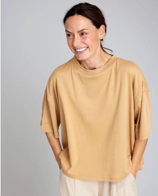 Bilde av Boxy t-shirt camel