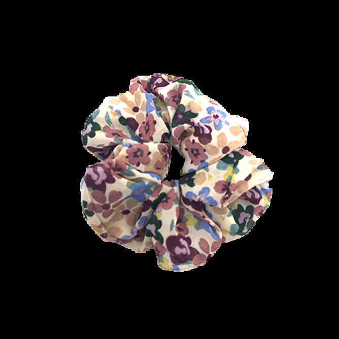 Bilde av Srunchie hvit med blomster