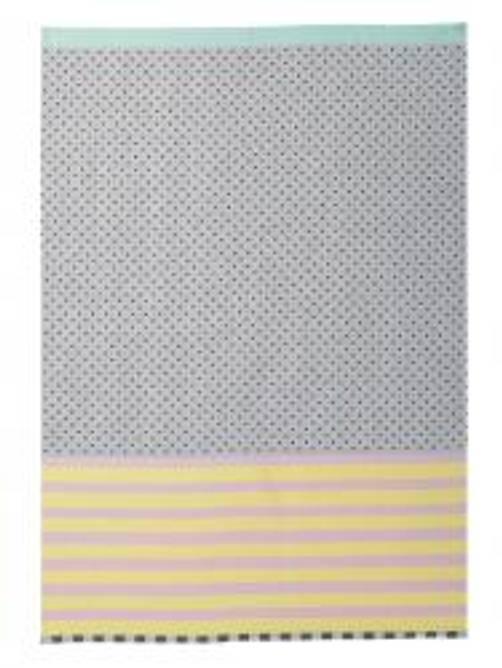 Bilde av ME Tea Towel yellow.black dots