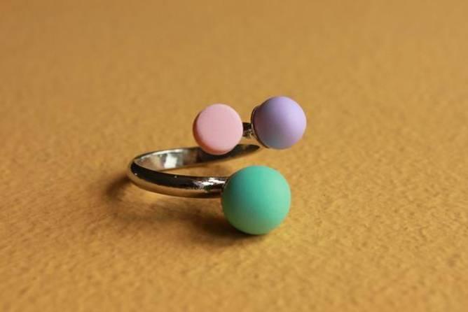 Bilde av TRIPLE candy ring (aqua)