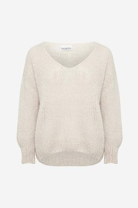 Bilde av Noella Fora Knit V-neck Sweater Sand