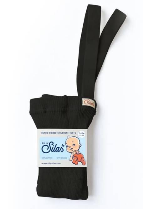 Bilde av Classic black strømpebukse med seler